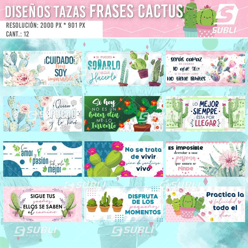 diseños para tazas frases cactus