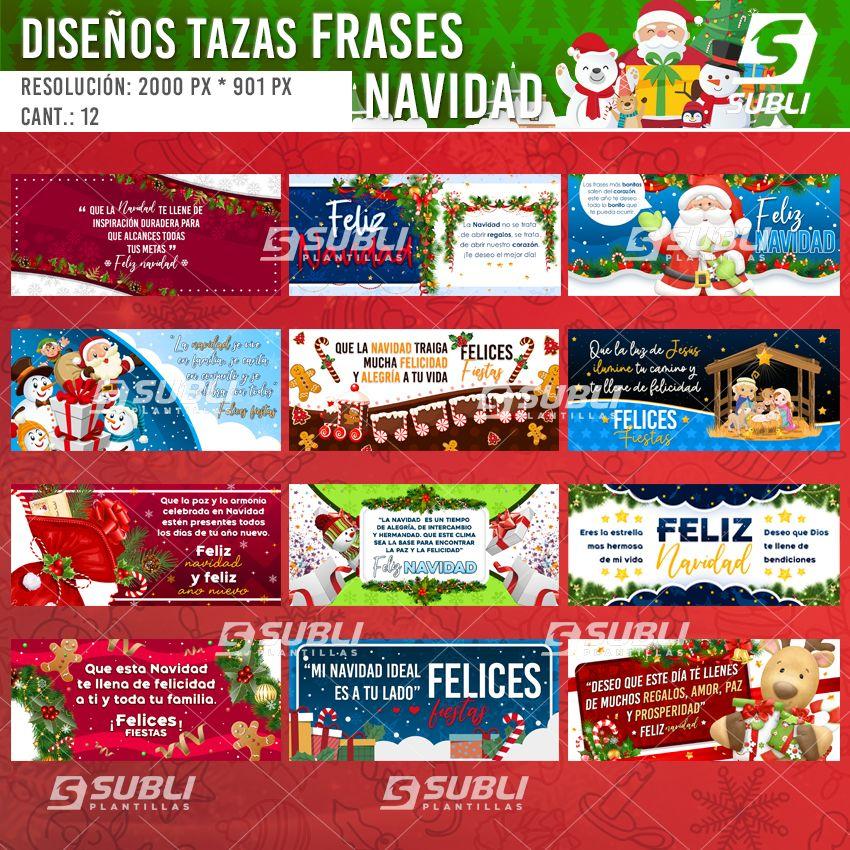 diseños para tazas con frases navideñas