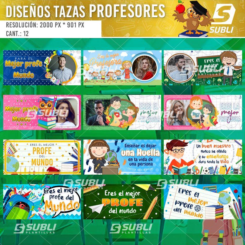 diseños para tazas de profesores