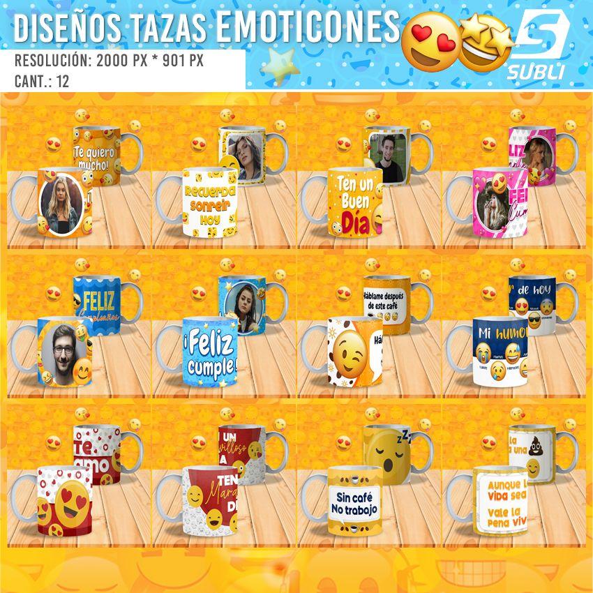 diseños para tazas emojis