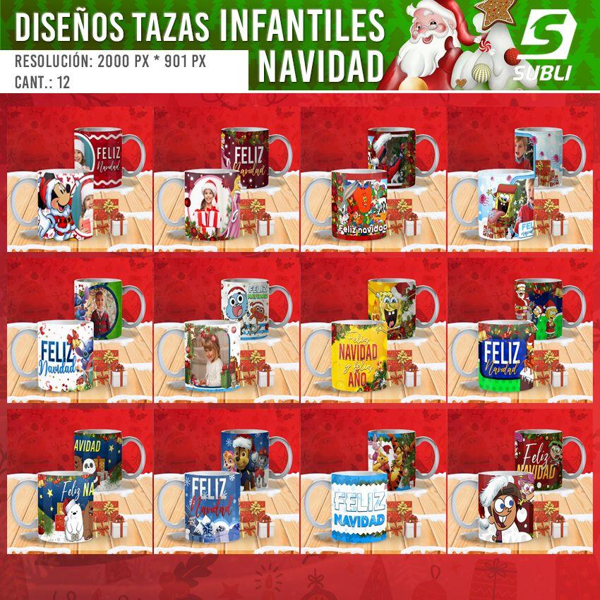 diseños para tazas de navidad para niños