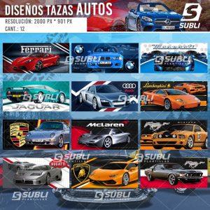 diseños para tazas de autos deportivos
