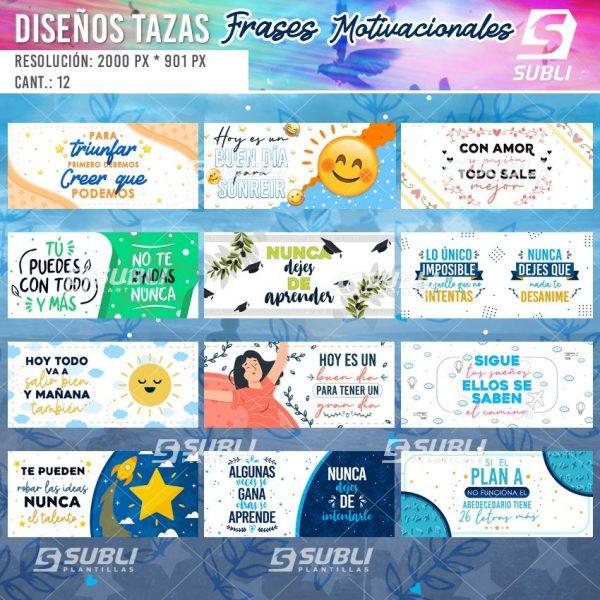 diseños para tazas de frases motivacionales