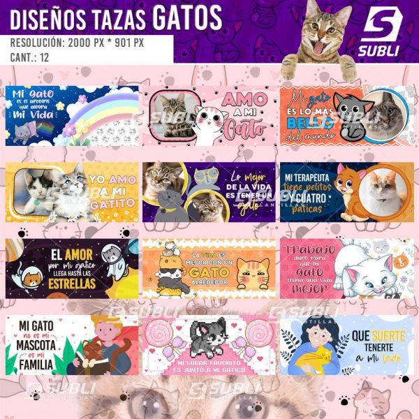 diseños para tazas de gatos