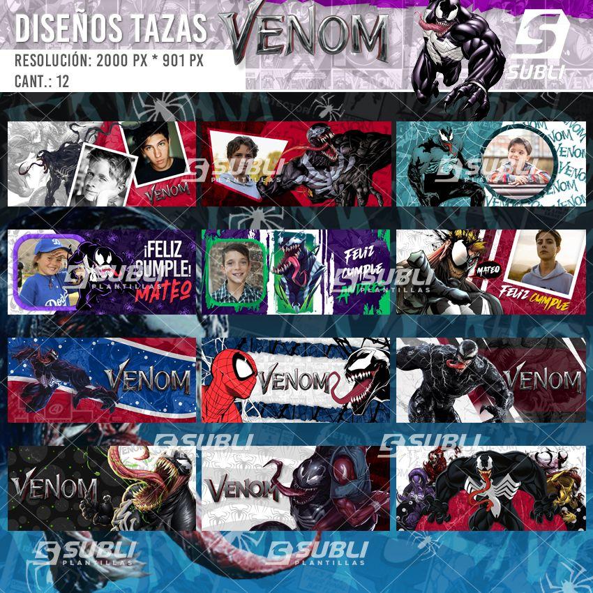 diseños para tazas de venom