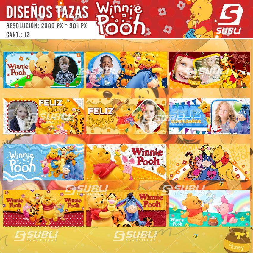 diseños para tazas de winnie pooh