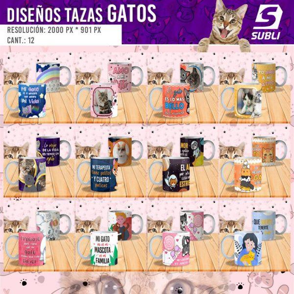 diseños para tazas gatitos