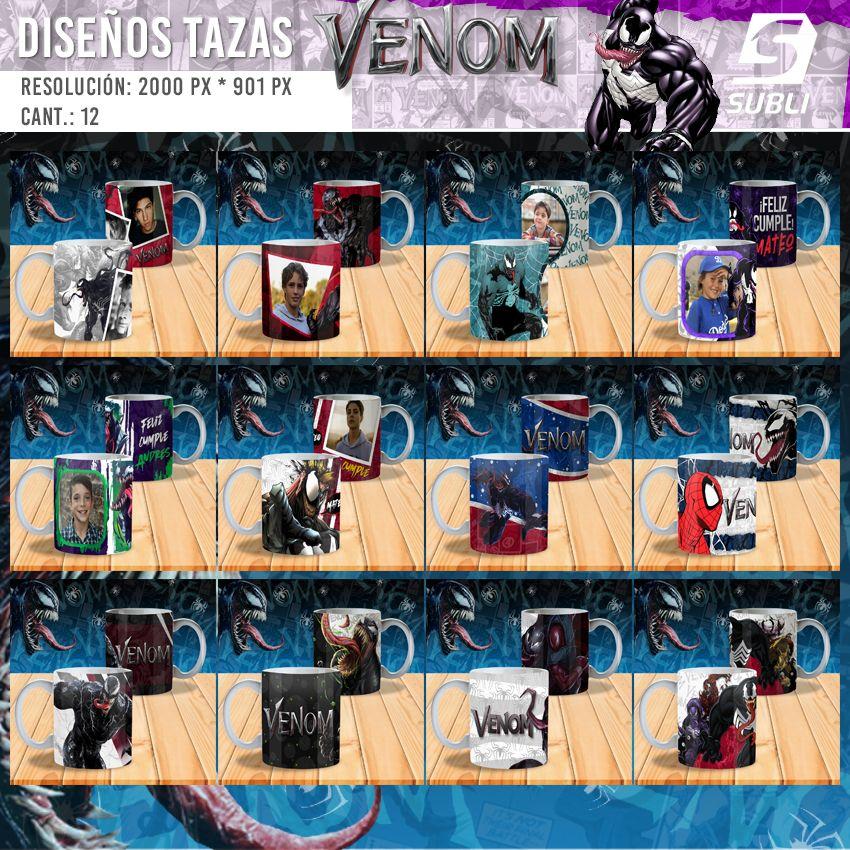 diseños para tazas venom