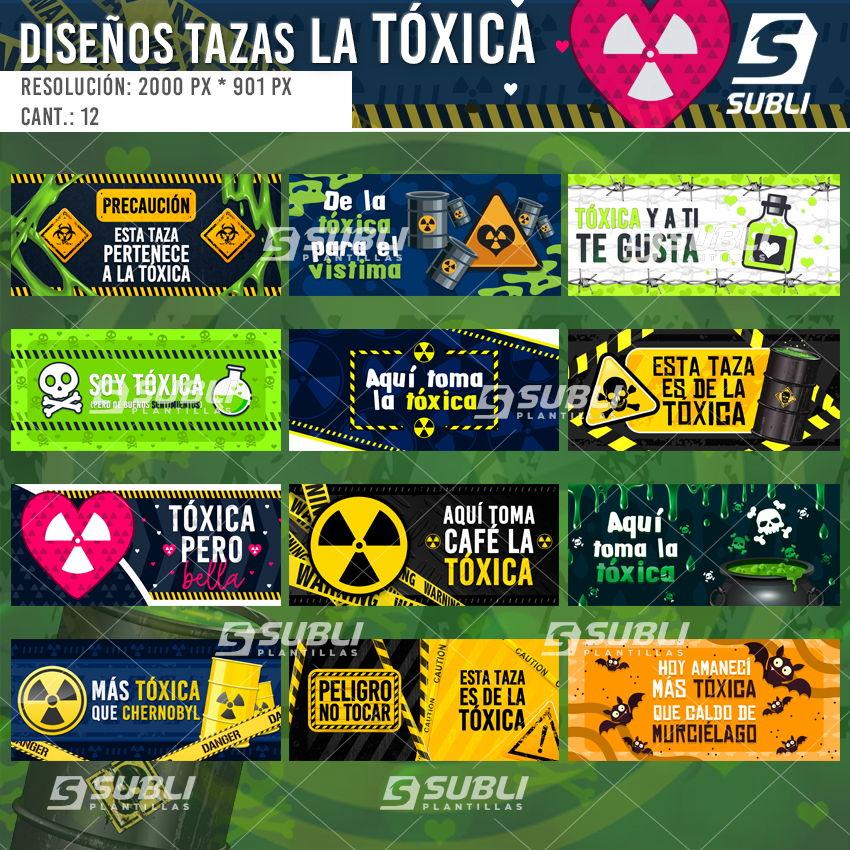 diseños para tazas la tóxica