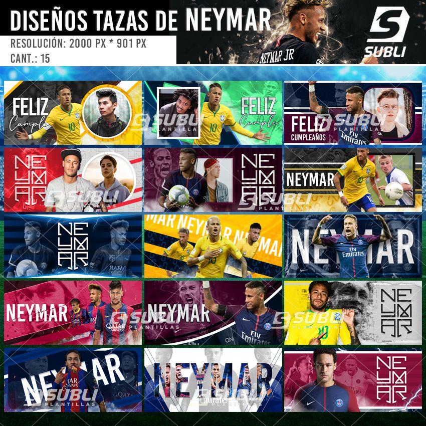 diseños para tazas neymar