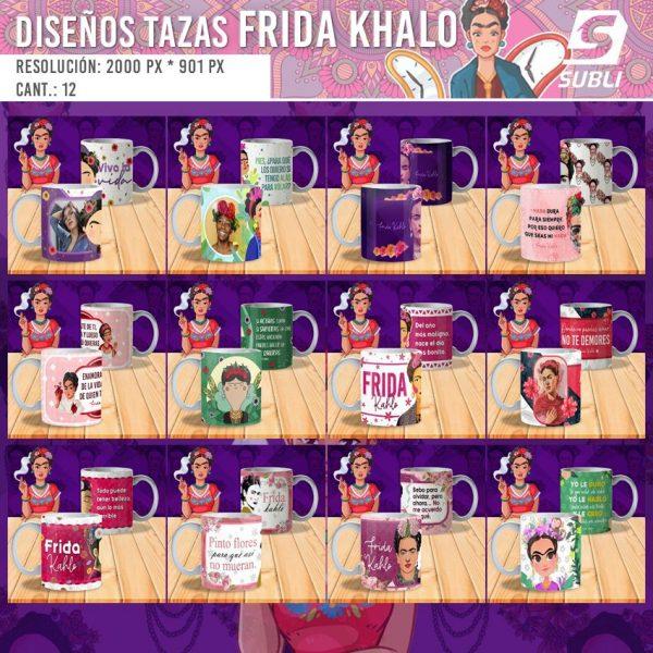diseños para tazas frida khalo