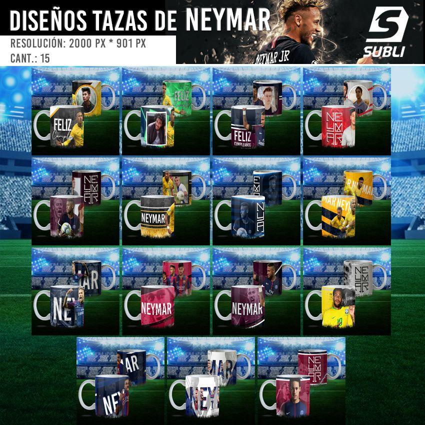 diseños para tazas de neymar psg