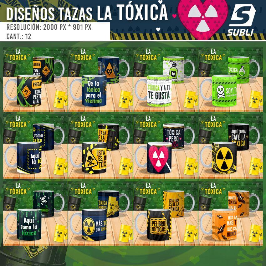 diseños para tazas de la tóxica