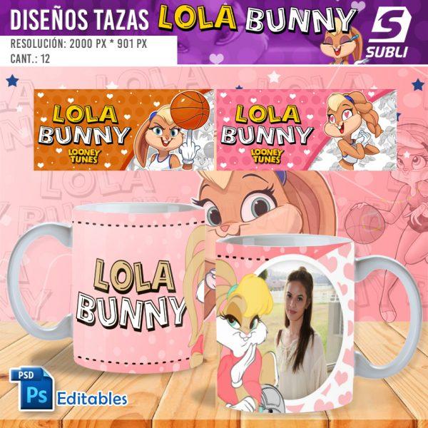 plantillas para sublimar tazas lola bunny