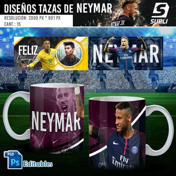 plantillas para sublimar tazas de neymar