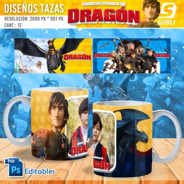 plantillas para sublimar tazas de como entrenar a tu dragón