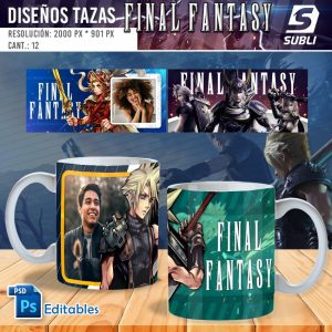 plantillas para sublimar tazas de final fantasy