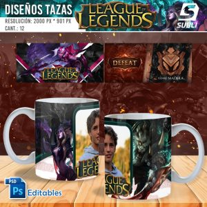 plantillas para sublimar tazas de league of legends