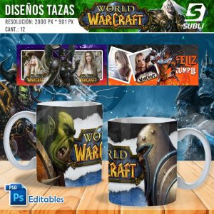 plantillas para sublimar tazas de world of warcraft