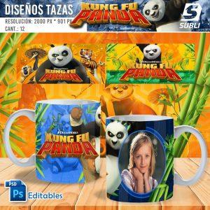 plantillas para sublimar tazas de kung fu panda