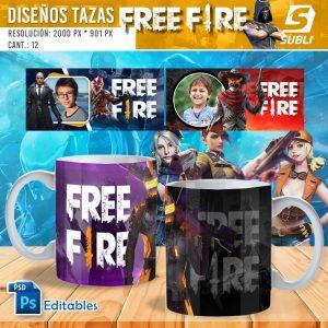 plantillas para sublimar tazas de free fire