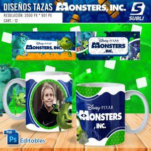 plantillas para sublimar tazas de monsters inc