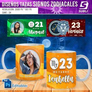 plantillas para sublimar tazas de signos zodiacales