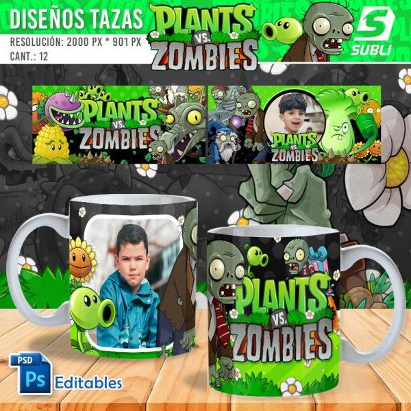 plantillas para sublimar tazas de plants vs zombies