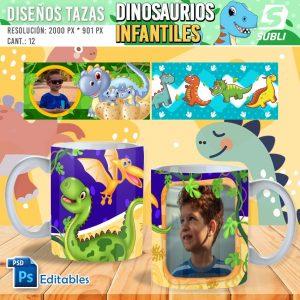plantillas para sublimar tazas dinosaurios infantiles